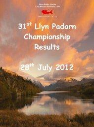 Llyn Padarn Results - Scarborough Swimming Club