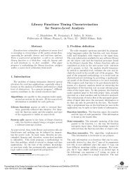 Library functions timing characterization for source-level analysis ...