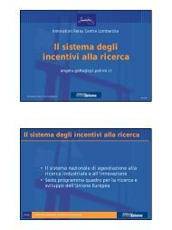 Il sistema degli incentivi alla ricerca - Scarpaz site