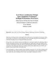 Low Power Architecture Design and Compilation Techniques ...