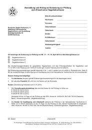 Anmeldung und Antrag auf Zulassung zur Prüfung zum Erwerb einer ...
