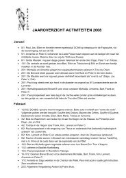 Activiteitenverslag 2008 (PDF) - Speleoclub Avalon
