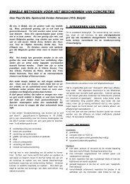 Afbakening in grotten - Speleoclub Avalon