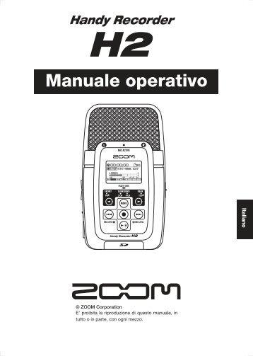 Manuale operativo - Scavino