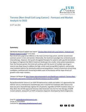 jsb market research tarceva non small cell Tarceva (non small cell lung cancer) market size, share, growth and analysis report 2015: acute market reports.