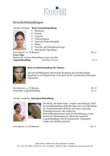 Körperbehandlungen auf der Haslauer Softpackliege - Hotel Enzian