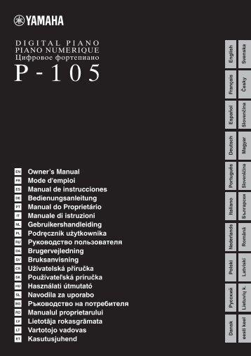 P-105 Owner's Manual