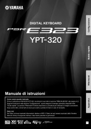 PSR-E323/YPT-320 Owner's Manual - Scavino