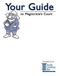 Your Guide to Magistrate's Court - South Carolina Bar Association