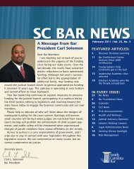 SC BAR NEWS - South Carolina Bar Association