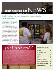 Justmoved? - South Carolina Bar Association