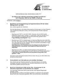 ERGEBNISNIEDERSCHRIFT der Sitzung des U ... - SCC Sekretariat