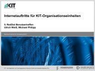 Folien der Präsentation als PDF zum Download. - SCC - KIT
