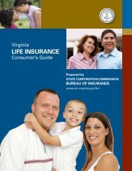Life insurance - Virginia State Corporation Commission ...