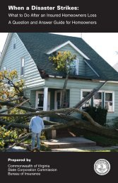 What to Do After an Insured Homeowners Loss - Virginia State ...