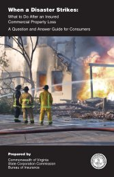 When A Disaster Strikes: - Virginia State Corporation Commission ...
