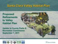 Valley Habitat Plan Refinement Summary, Sept. 2011