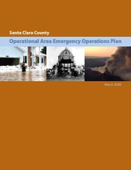 Operational Area Emergency Operations Plan - County of Santa Clara