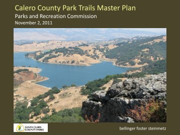 Calero County Park Trails Master Plan - County of Santa Clara