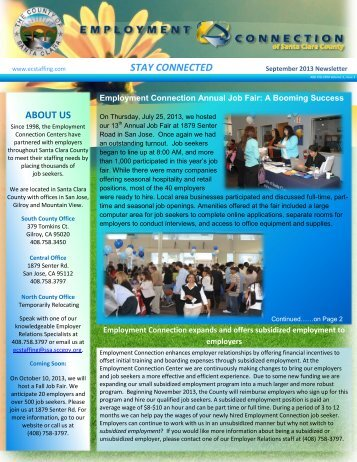 EC Newsletter - County of Santa Clara