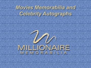 Movies Memorabilia and Celebrity Autographs