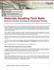 Advances in Conveyor Technology Increasing System Flexibility