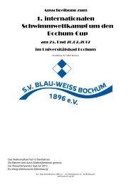 Ausschreibung Bochum Cup 2012 - DSV