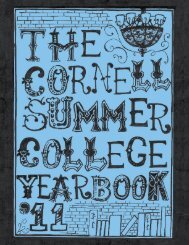 Summer College Yearbook 2011 - School of Continuing Education ...