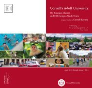 Cornell's Adult University - School of Continuing Education and ...