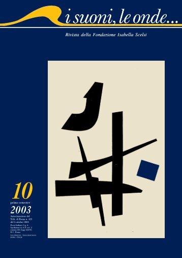 Rivista Scelsi 10 completa - Fondazione Isabella Scelsi