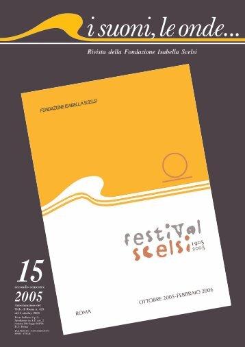 Rivista Scelsi 15 completa - Fondazione Isabella Scelsi