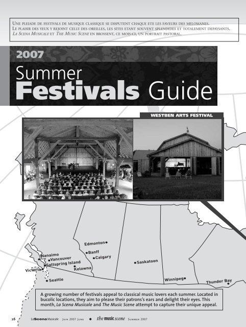 Festivals Guide La Scena Musicale