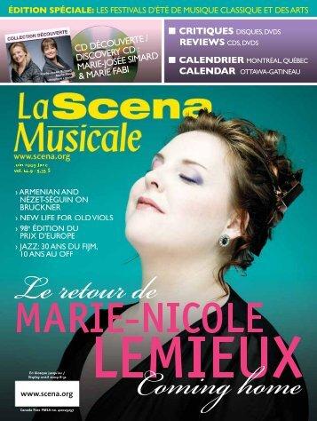 Adobe Acrobat PDF complet (6 Meg) - La Scena Musicale