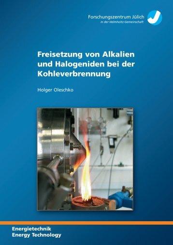 Freisetzung von Alkalien und Halogeniden bei der Kohleverbrennung