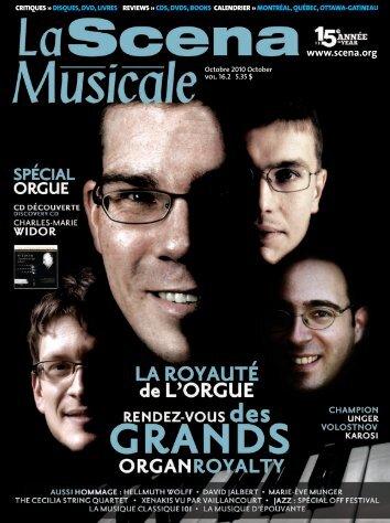 Octobre 2010 - La Scena Musicale