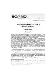 Znaczenie Internetu dla rozwoju dzieci i młodzieży - Sceno ...