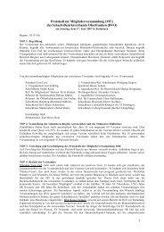 1 Protokoll zur Mitgliederversammlung (MV) - Bezirksverband ...