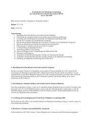 Protokoll über die Mitgliederversammlung - Bezirksverband ...