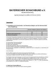 Protokoll Bundesversammlung 2008 - Bayerischer Schachbund eV