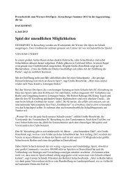 Pressebericht zum Werner-Ott-Open - Kreuzberger Sommer 2013 in ...