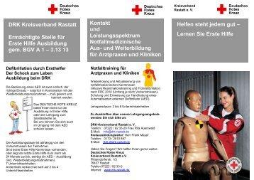 Kontakt und Leistungsspektrum ... - DRK Kreisverband Rastatt