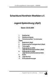 Jugend-Spielordnung Stand 20.03.04 - Schachjugend NRW