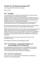 Protokoll zur JHV 2012 - Schachjugend NRW