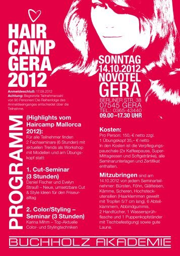 HAIR CAMP GERA 2012 GERA - Buchholz Akademie
