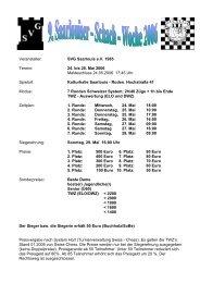 Ausschreibung - Schachlinks
