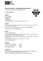 Ausschreibung - Schachclub Kreuzberg e.V.