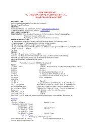 AUSSCHREIBUNG X INTERNATIONAL ... - Schachlinks
