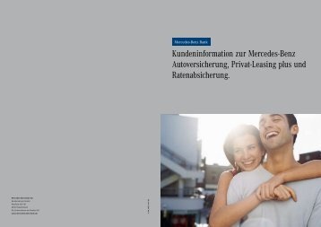 Kundeninformation zur Mercedes-Benz Autoversicherung, Privat ...