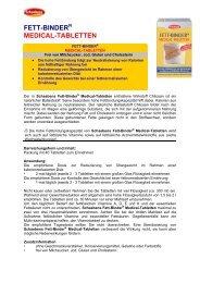 FETT-BINDER MEDICAL-TABLETTEN - Schaebens