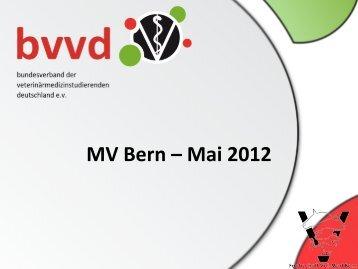 MV Bern – Mai 2012 - Fachschaft Vetmed Bern